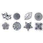 FabScraps - Metal Embellishments Box - Filigree - Old Silver 2