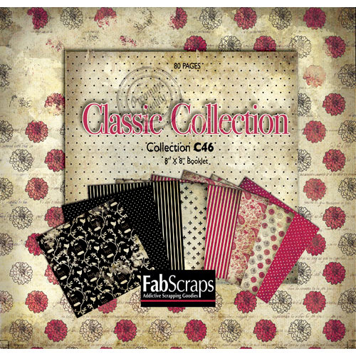 FabScraps - Classic Collection - Mini Paper Book 8 x 8