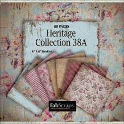 FabScraps - Heritage Collection - Mini Paper Book 8 x 8