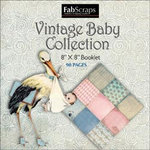 FabScraps - Vintage Baby Collection - Mini Paper Book 8 x 8