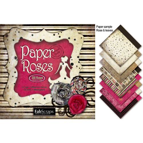 FabScraps - Burlesque Collection - 8 x 8 Die Cut Book - Rose