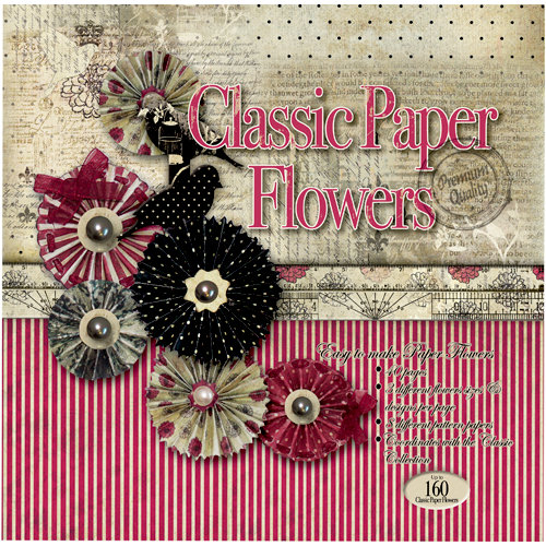 FabScraps - Classic Collection - 8 x 8 Die Cut Book - Flowers