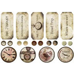 FabScraps - Timeless Travel Collection - Stickers - Timeless Travel