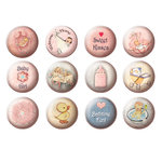 FabScraps - Vintage Baby Collection - Stickers - Girl