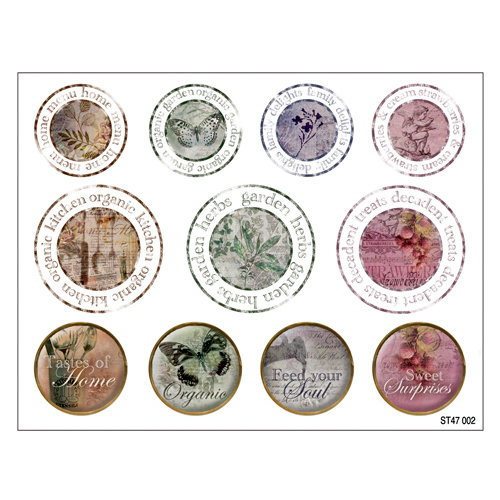 FabScraps - Organic Collection - Stickers - Stamps