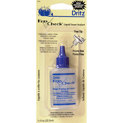 Dritz - Fray Check - A Liquid Seam Sealant For Ribbons