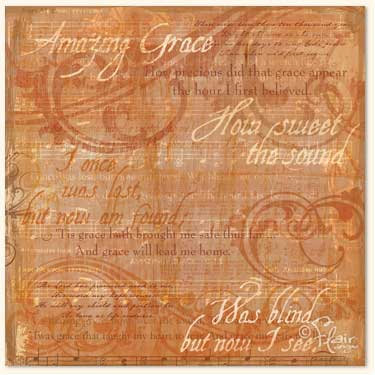 Flair Designs - Amazing Grace Collection - 12x12 Paper  - Amazing Grace