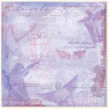 Flair Designs - Amazing Grace Collection - 12x12 Paper  - Guardian Angels