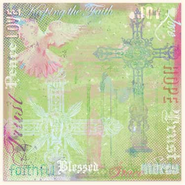 Flair Designs - Amazing Grace Collection - 12x12 Paper  - Keeping The Faith, CLEARANCE