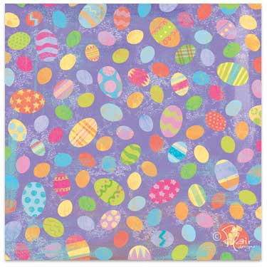 Flair Designs - Easter Surprise Collection - 12x12 Paper  - Egg-Stravaganza