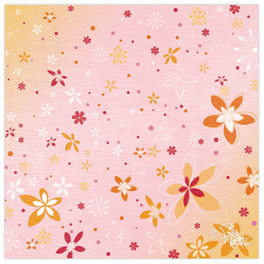 Flair Designs - Summer Daze Collection - 12 x 12 Paper - Flower Shower, CLEARANCE