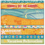 Flair Designs - Summer Daze Collection - 12 x 12 Paper - Summer Daze Pieces of Flair, CLEARANCE