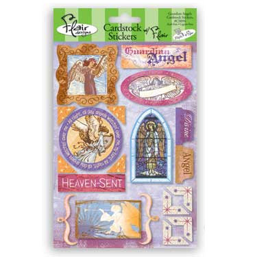 Flair Designs - Amazing Grace Collection - Cardstock Stickers - Guardian Angel, CLEARANCE