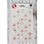 Freckled Fawn - Enamel Stars - Silver, Pink and White
