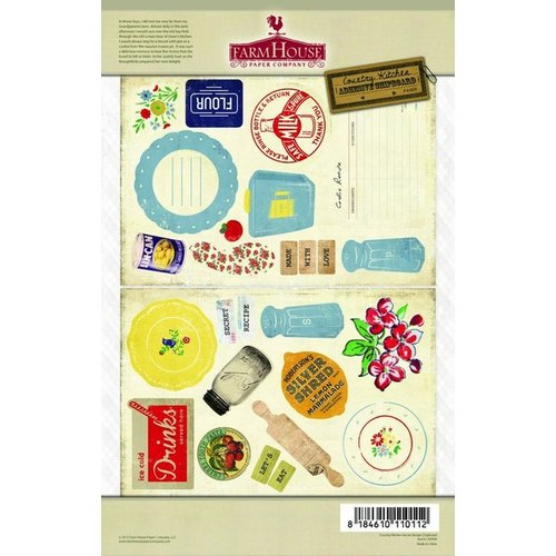 FarmHouse Paper Company - Country Kitchen Collection - Chipboard Stickers - Secret Recipe
