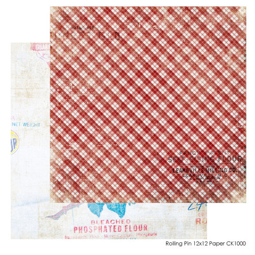 FarmHouse Paper Company - Country Kitchen Collection - 12 x 12 Double Sided Paper - Rollin Pin