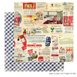 FarmHouse Paper Company - Country Kitchen Collection - 12 x 12 Double Sided Paper - Bake a Cake