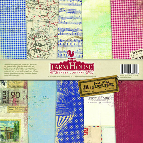 FarmHouse Paper Company - Fair Skies Collection - 12 x 12 Paper Pack - Dusk