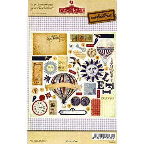 FarmHouse Paper Company - Fair Skies Collection - Chipboard Stickers - Dusk