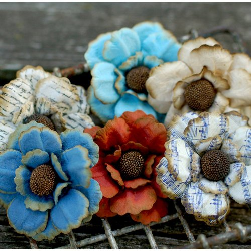 FarmHouse Paper Company - Fair Skies Collection - Botanicals - Paper Flowers