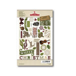 FarmHouse Paper Company - Norland Collection - Chipboard Stickers - Cardigan