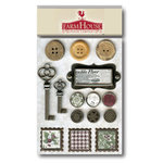 FarmHouse Paper Company - Norland Collection - Brads, Buttons and Metals