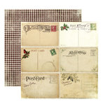 FarmHouse Paper Company - Norland Collection - 12 x 12 Double Sided Paper - High Cabin