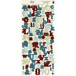 Fancy Pants Designs - Happy Together Collection - Alphabet Cardstock Stickers