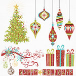 Fancy Pants Designs - Tradition Collection - Christmas - 12 x 12 Glitter Cuts Transparencies