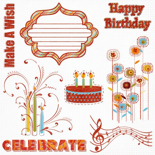 Fancy Pants Designs - It's Your Day Collection - 12 x 12 Glitter Cuts Transparencies