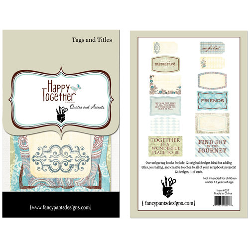 Fancy Pants Designs - Happy Together Collection - Tags and Titles