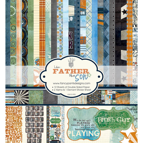 Fancy Pants Designs - Like Father Like Son Collection - 12 x 12 Paper Kit