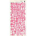 Fancy Pants Designs - Wishful Thinking Collection - Alphabet Cardstock Stickers - Pink