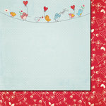 Fancy Pants Designs - Love Birds Collection - 12 x 12 Double Sided Paper - Birds on a Wire