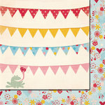 Fancy Pants Designs - Love Birds Collection - 12 x 12 Double Sided Paper - Kissame