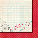 Fancy Pants Designs - Love Birds Collection - 12 x 12 Double Sided Paper - Sending My Love