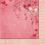 Fancy Pants Designs - Love Birds Collection - 12 x 12 Double Sided Paper - Sweetheart, BRAND NEW