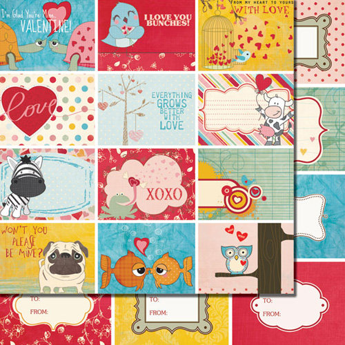 Fancy Pants Designs - Love Birds Collection - 12 x 12 Double Sided Paper - Love Birds Cards