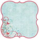 Fancy Pants Designs - Love Birds Collection - 12 x 12 Die Cut Paper - Love Birds Bracket