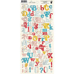 Fancy Pants Designs - Love Birds Collection - Alphabet Cardstock Stickers