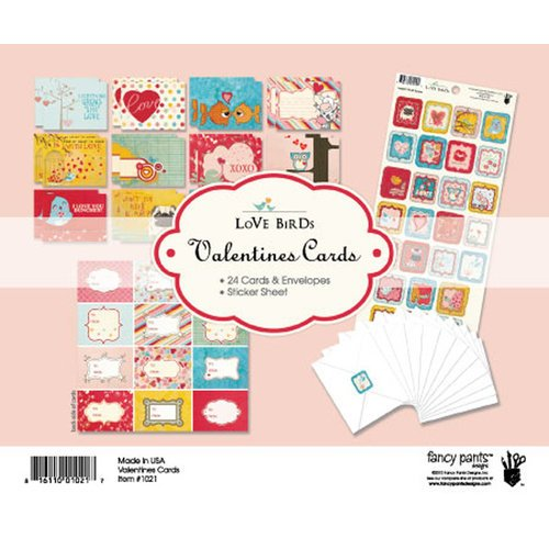 Fancy Pants Designs - Love Birds Collection - Valentine Cards Kit