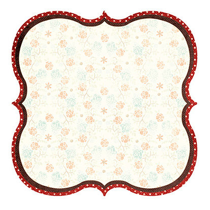 Fancy Pants Designs - Hot Chocolate Collection - 12 x 12 Die Cut Paper - Hot Chocolate Bracket
