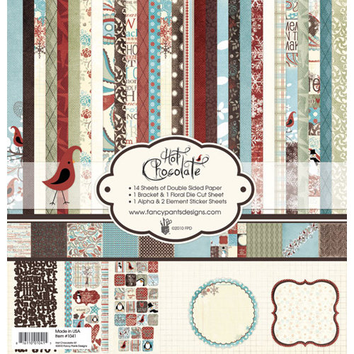 Fancy Pants Designs - Hot Chocolate Collection - 12 x 12 Paper Kit, BRAND NEW