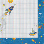 Fancy Pants Designs - To the Moon Collection - 12 x 12 Double Sided Paper - Space Travel