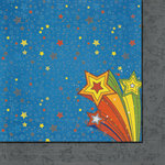 Fancy Pants Designs - To the Moon Collection - 12 x 12 Double Sided Paper - Shooting Star