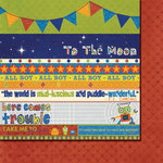 Fancy Pants Designs - To the Moon Collection - 12 x 12 Double Sided Paper - Strips