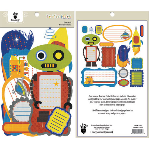 Fancy Pants Designs - To the Moon Collection - Journal Embellishments - Die Cut Cardstock Pieces