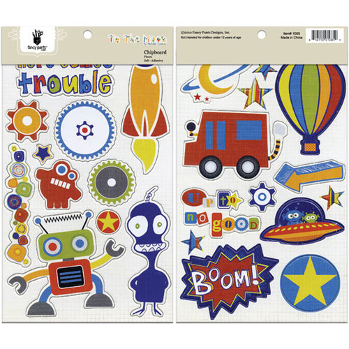 Fancy Pants Designs - To the Moon Collection - Chipboard Stickers - Shapes