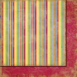 Fancy Pants Designs - Beach Bum Collection - 12 x 12 Double Sided Paper - Hawaiian Stripes