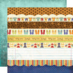 Fancy Pants Designs - Rusted Sun Collection - 12 x 12 Double Sided Paper - Strips